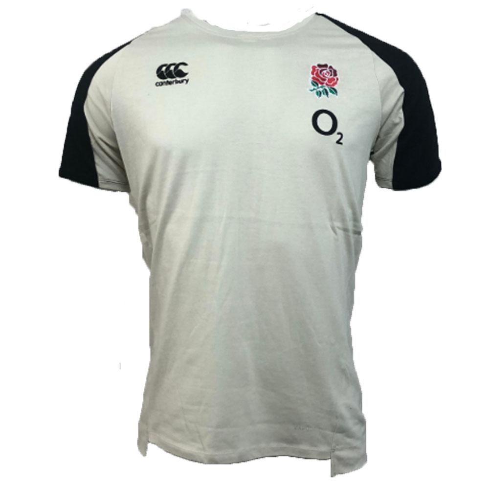 d75db0dbbb2 2018-2019 England Rugby Vapordri Performance Cotton Tee (Oyster Grey)  [E547585OG7] - $28.97 Teamzo.com