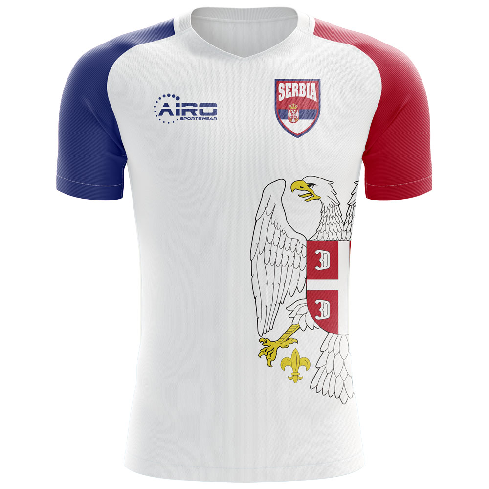 a7b23da7d6e1 Serbia 2018-2019 Flag Concept Shirt  SERBIAFLAG  -  78.59 Teamzo.com
