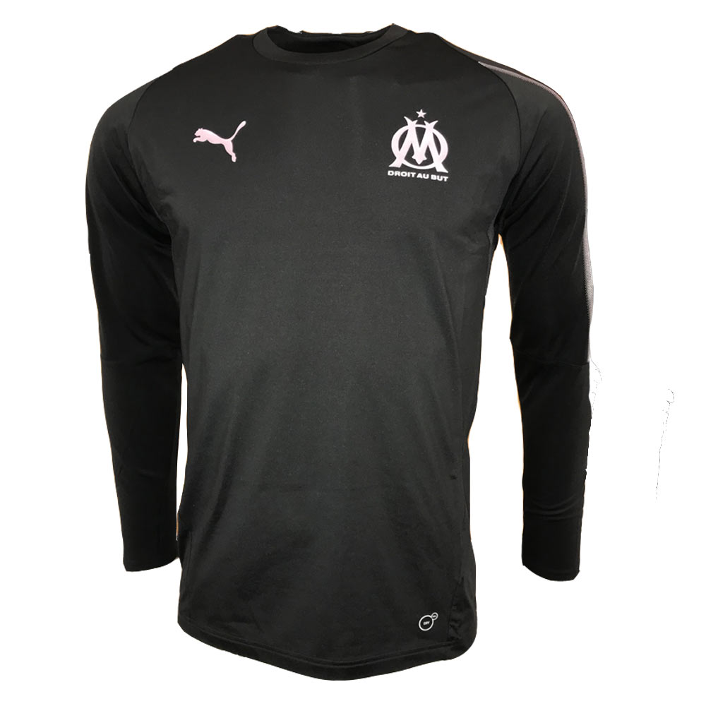 low priced 1d42d fc618 Olympique Marseille 2018-2019 Training Sweat Top (Black)