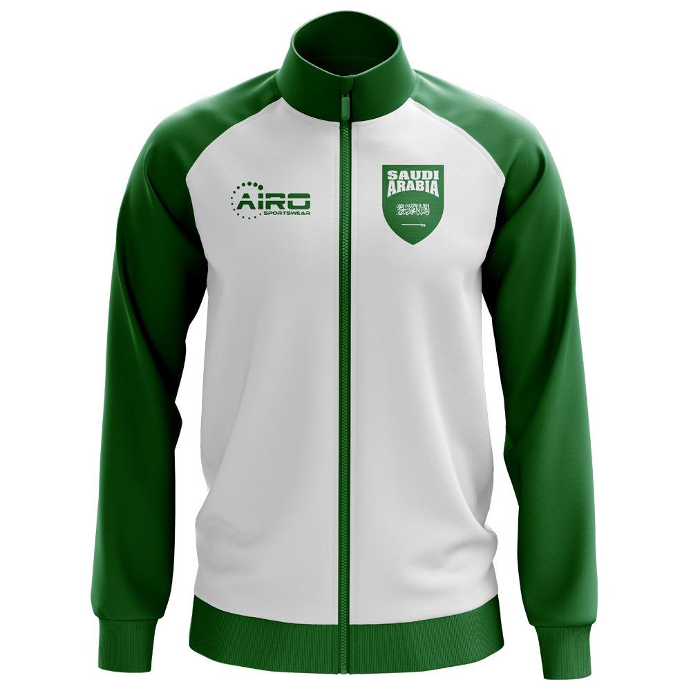 Saudi Arabia Concept Football Track Jacket (White)