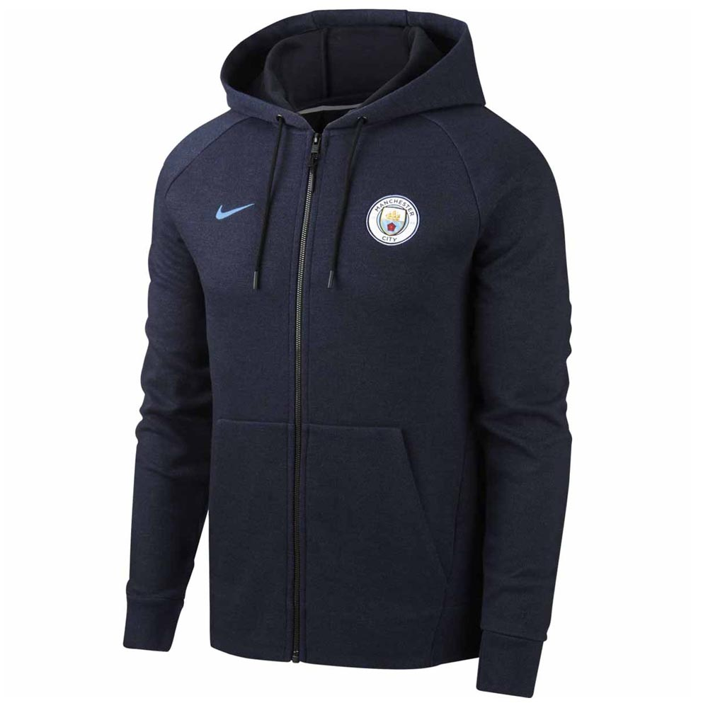 Manchester City 2018 2019 Venue Full Zip Hoodie (Obsidian)