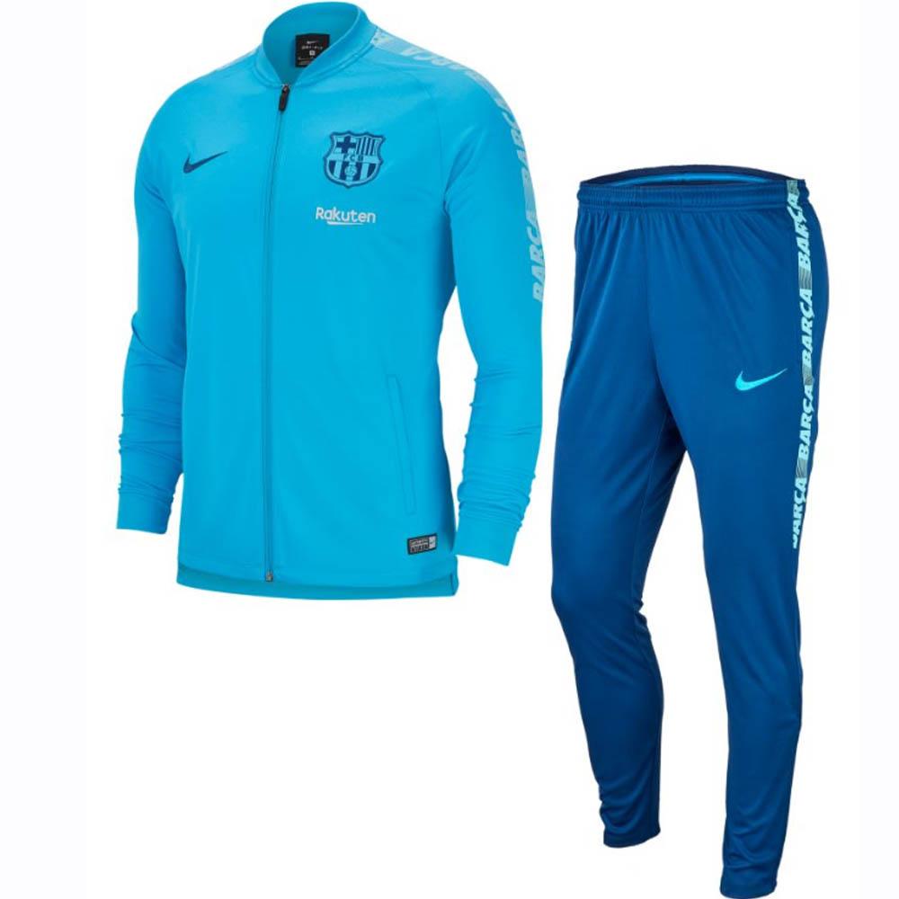 999127d1 Barcelona 2018-2019 Squad Knit Tracksuit (Blue) [894341-482] - $131.19  Teamzo.com