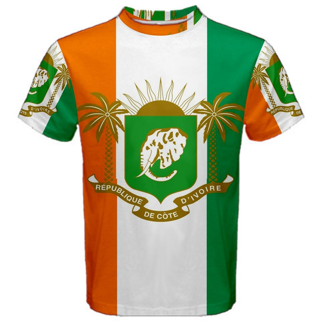 Ivory Coast Coat of Arms Sublimated Sports Jersey (Kids)