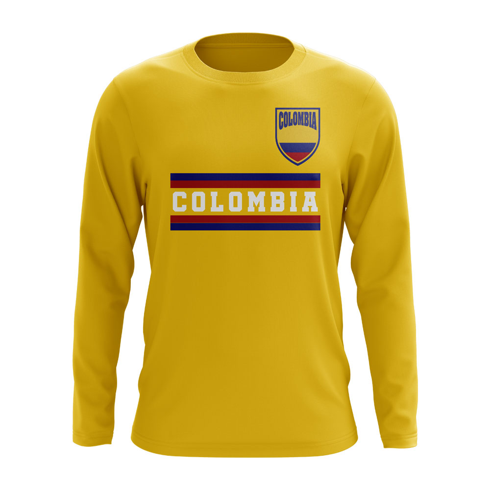Colombia Core Football Country Long Sleeve T-Shirt (Yellow)