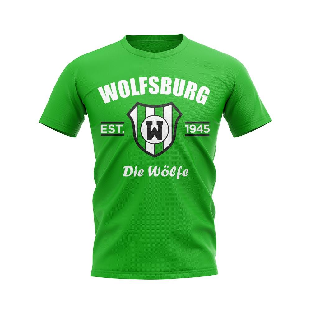 finest selection 5355e 1e92a Wolfsburg Established Football T-Shirt (Green)