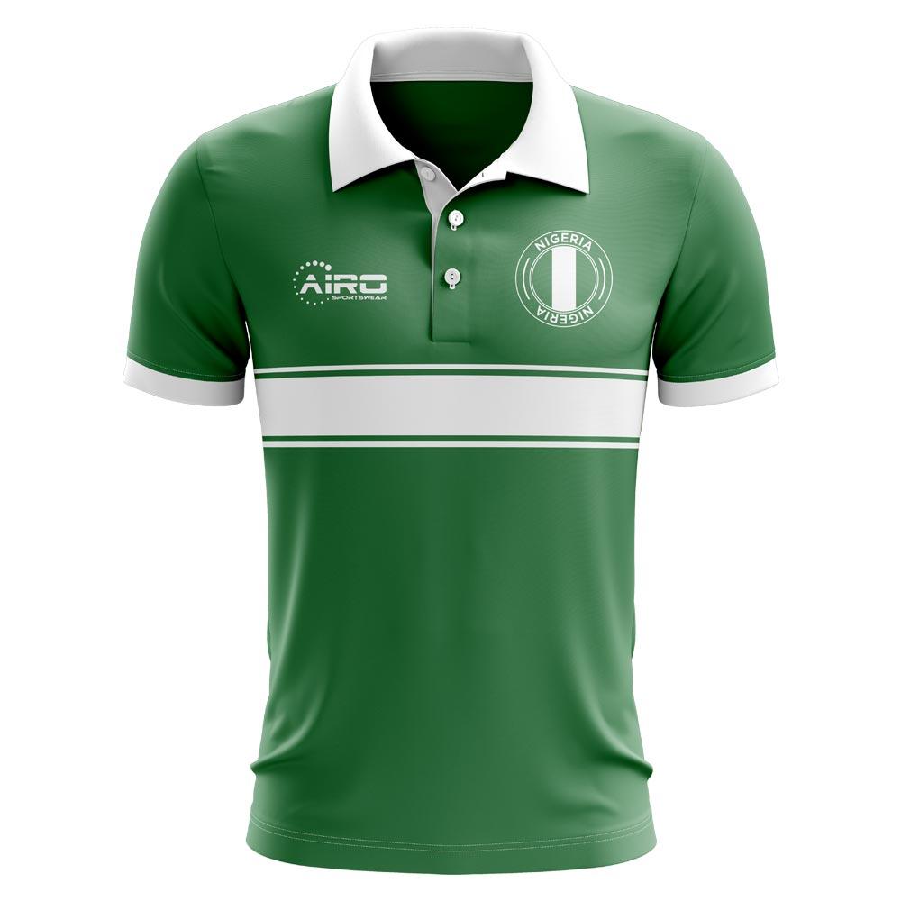 e8305a8e324 Nigeria Concept Stripe Polo Shirt (Green) [NIGERIAPOLO] - $52.00 ...