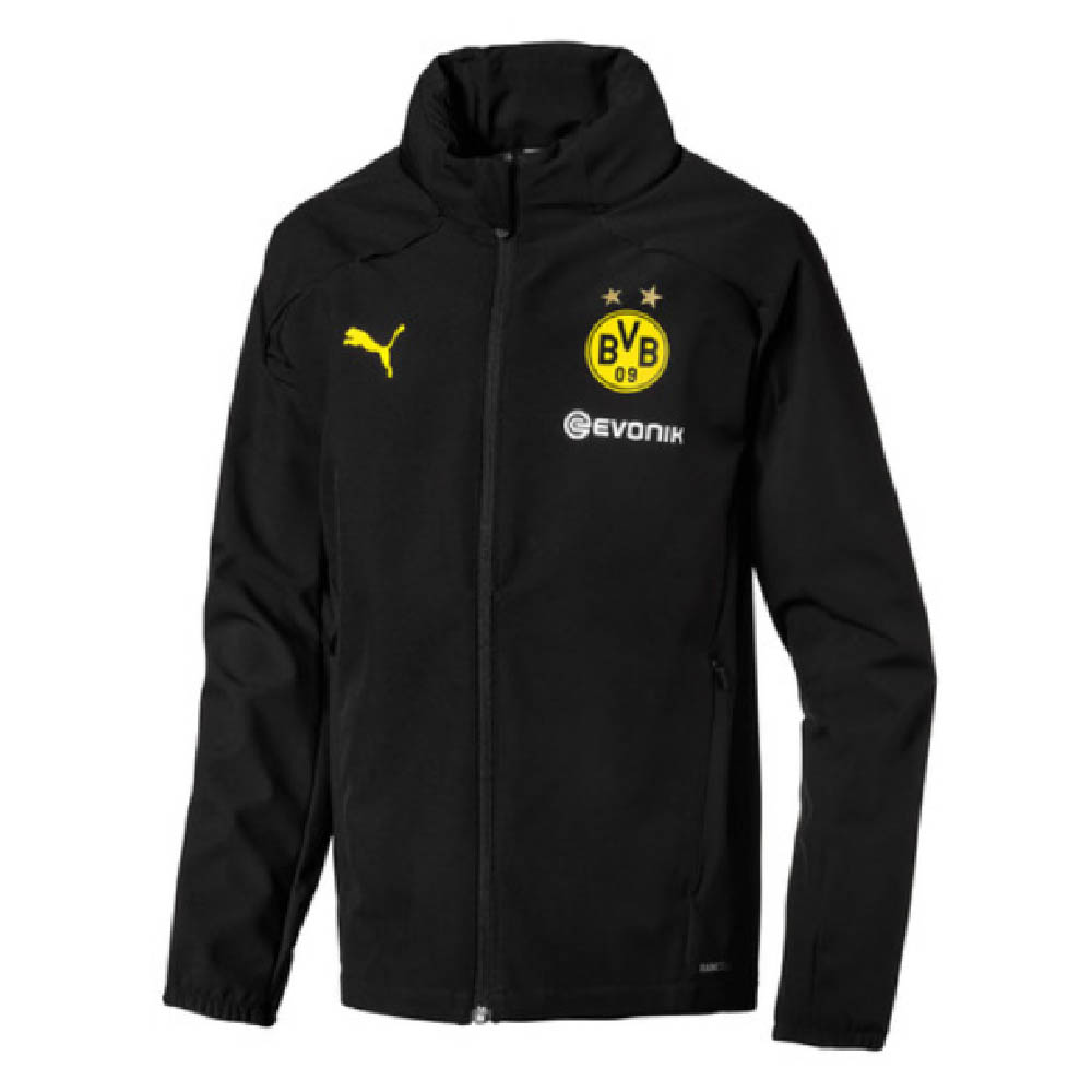Borussia Dortmund 2019 2020 Rain Jacket Black 75337712 84 71 Teamzo Com