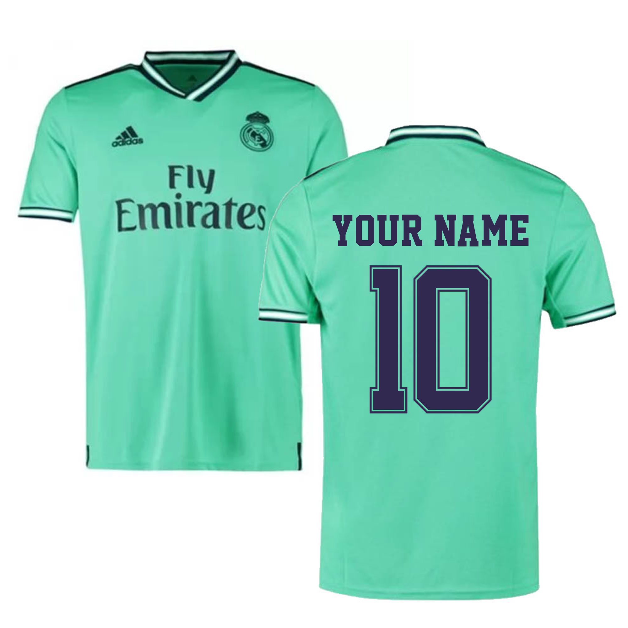 official photos 986a1 75a62 2019-2020 Real Madrid Adidas Third Football Shirt (Your Name)