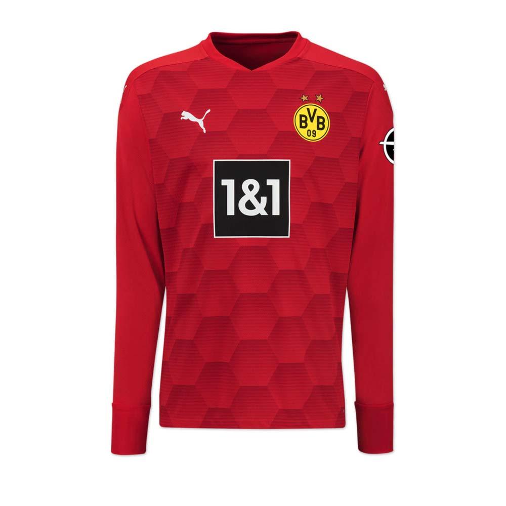 Borussia Dortmund 2020 2021 Away Goalkeeper Shirt Red 75717306 84 42 Teamzo Com
