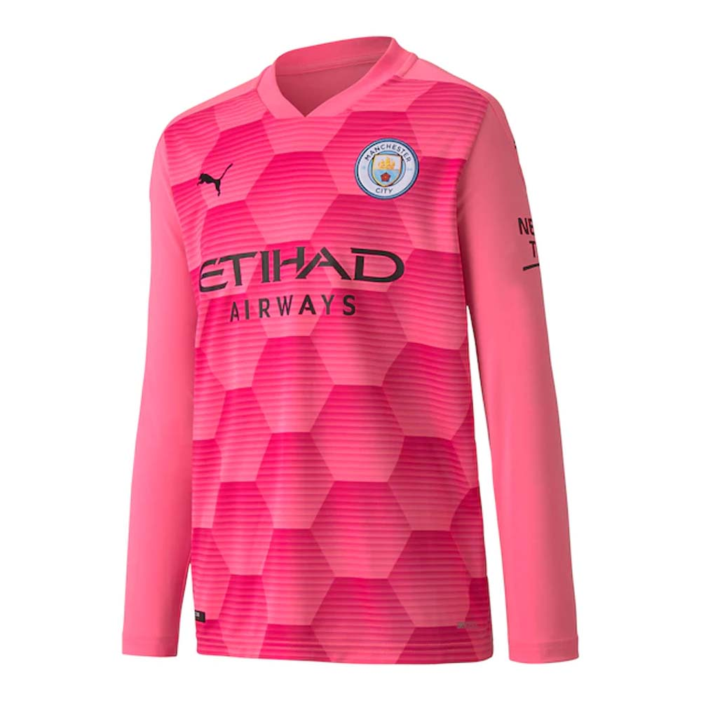 Man City 2020 2021 Away Goalkeeper Shirt Pink Kids 75710322 64 36 Teamzo Com