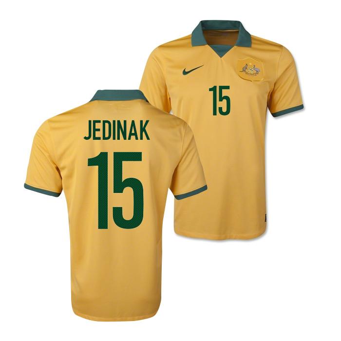 2685d7516 Australia 14-15 World Cup Home Shirt (Jedinak 15)  578177-702-43623 ...