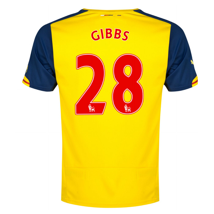 f23f85ed8 Arsenal 14-15 Away Shirt (Gibbs 28)  74644908-45871  -  78.59 Teamzo.com