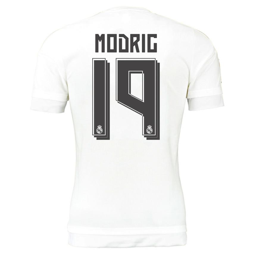 new arrival c713c a4653 Real Madrid 15-16 Home Shirt (Modric 19) - Kids
