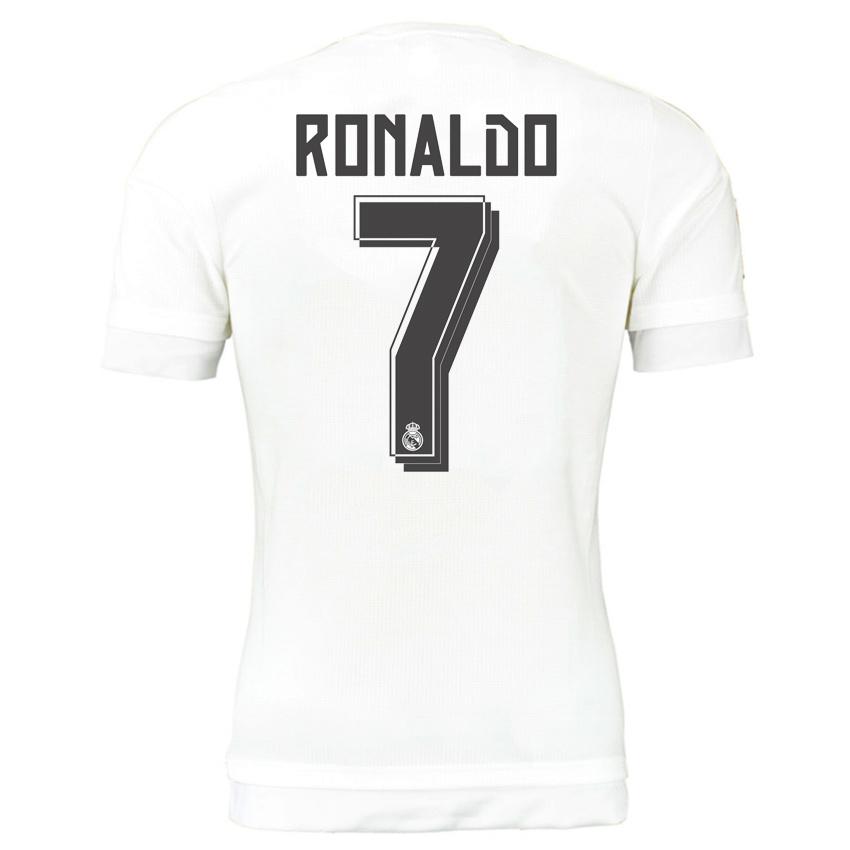 hot sale online 0970c 2e37a Real Madrid 15-16 Home Shirt (Ronaldo 7) - Kids