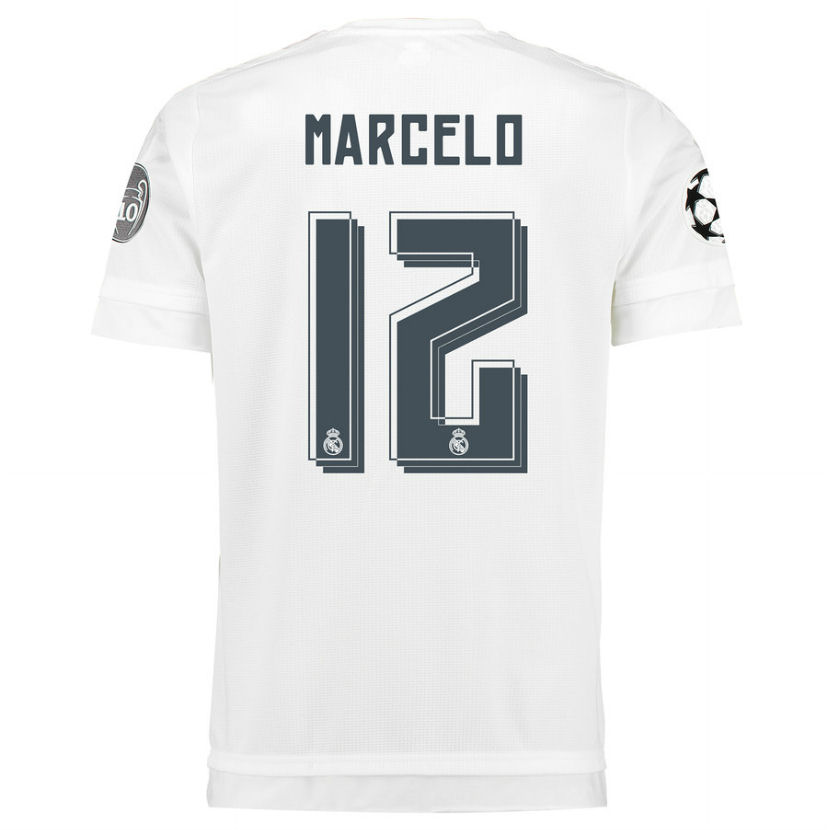 2aeba7cc462936 2015-2016 Real Madrid UCL Home Shirt (Marcelo 12)  S12614-68902 ...
