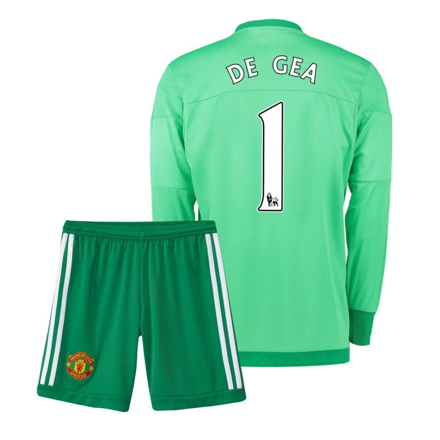 fcd9b6be540 2015-16 Manchester United Home Goalkeeper Mini Kit (De Gea 1)   AC1476-69759  - 89