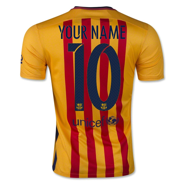 new styles f37ed 88112 Barcelona 15-16 Away Shirt (Your Name)
