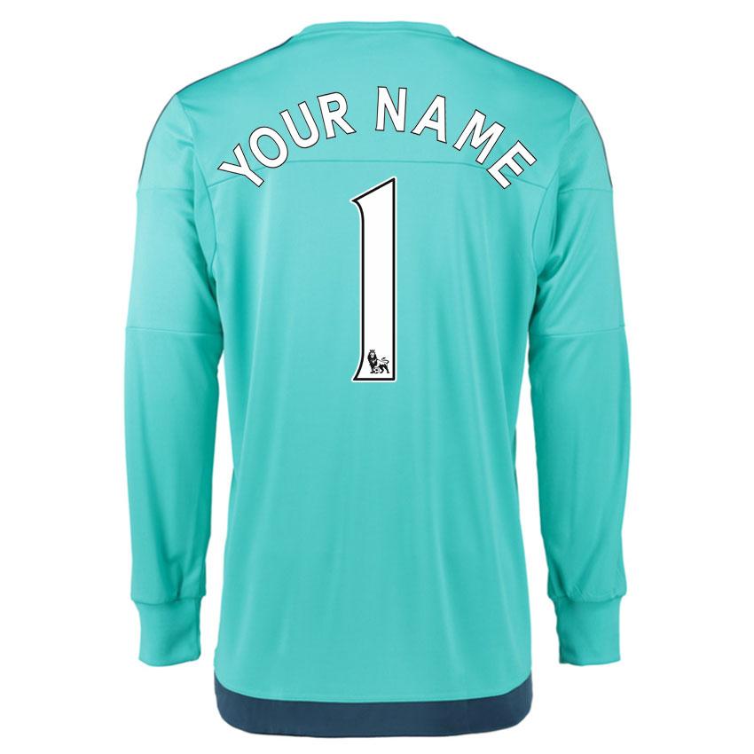 0ade563af 2015-16 Chelsea Goalkeeper Home Shirt (Your Name) -Kids  S11666 ...