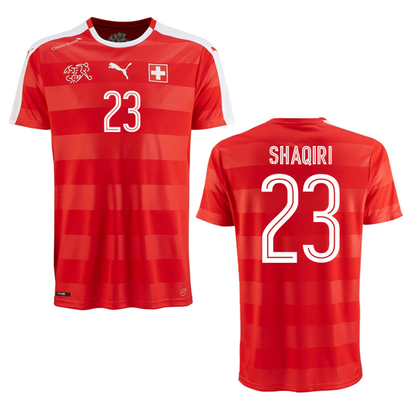 eaeb77fac2b ... (red) 2016-2017 Switzerland Puma Home Shirt (Shaqiri 23) - Kids  74874701-72185 ...