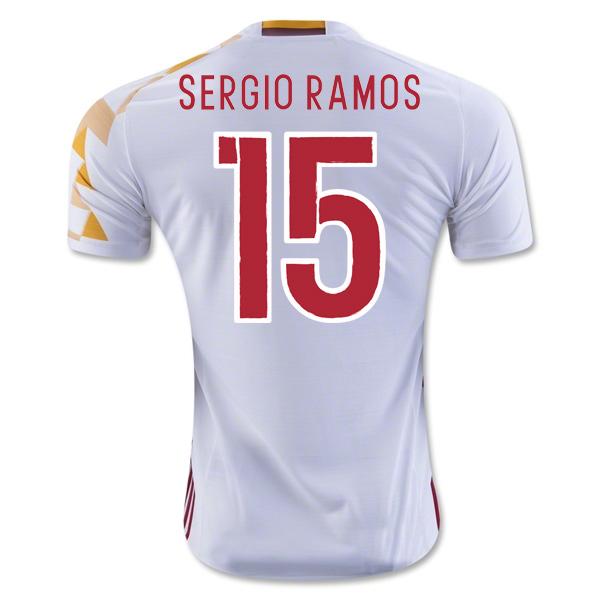 quality design 77d15 a9dfc 2016-2017 Spain Adidas Away Shirt (Sergio Ramos 15) - Kids