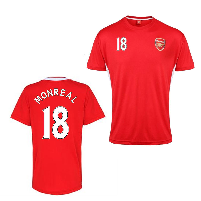 Official arsenal training t shirt red monreal 18 for Arsenal t shirts sale