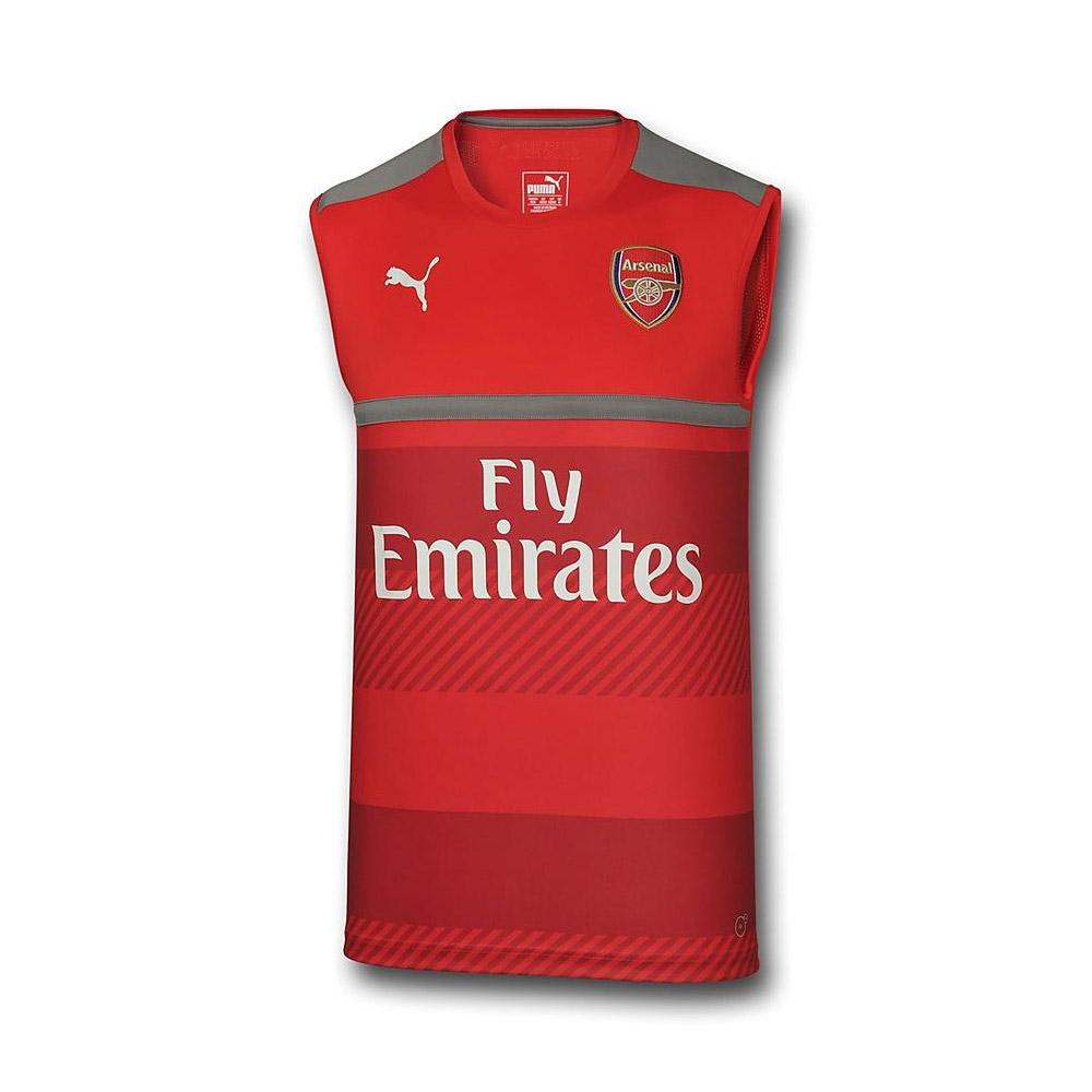 81c3a319c Arsenal 2016-2017 Sleeveless Training Jersey (Red)  74975210M ...