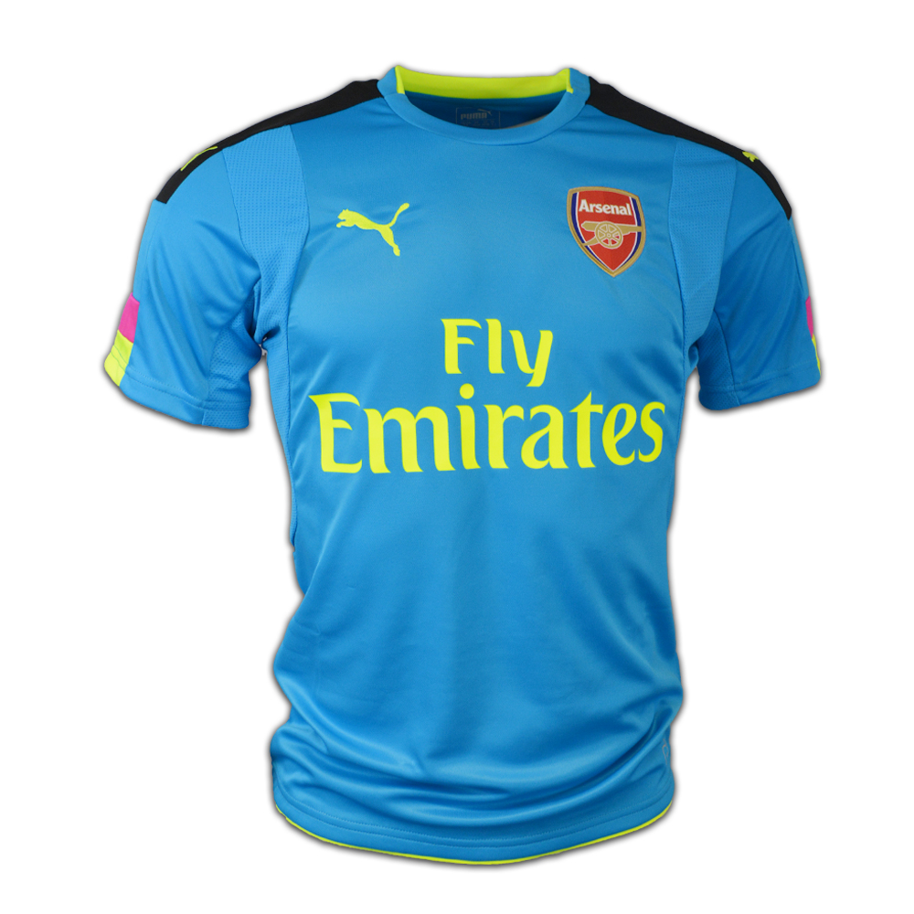 c7b91585635 Arsenal 2016-2017 Away SS Goalkeeper Shirt (Blue)  74969322M ...
