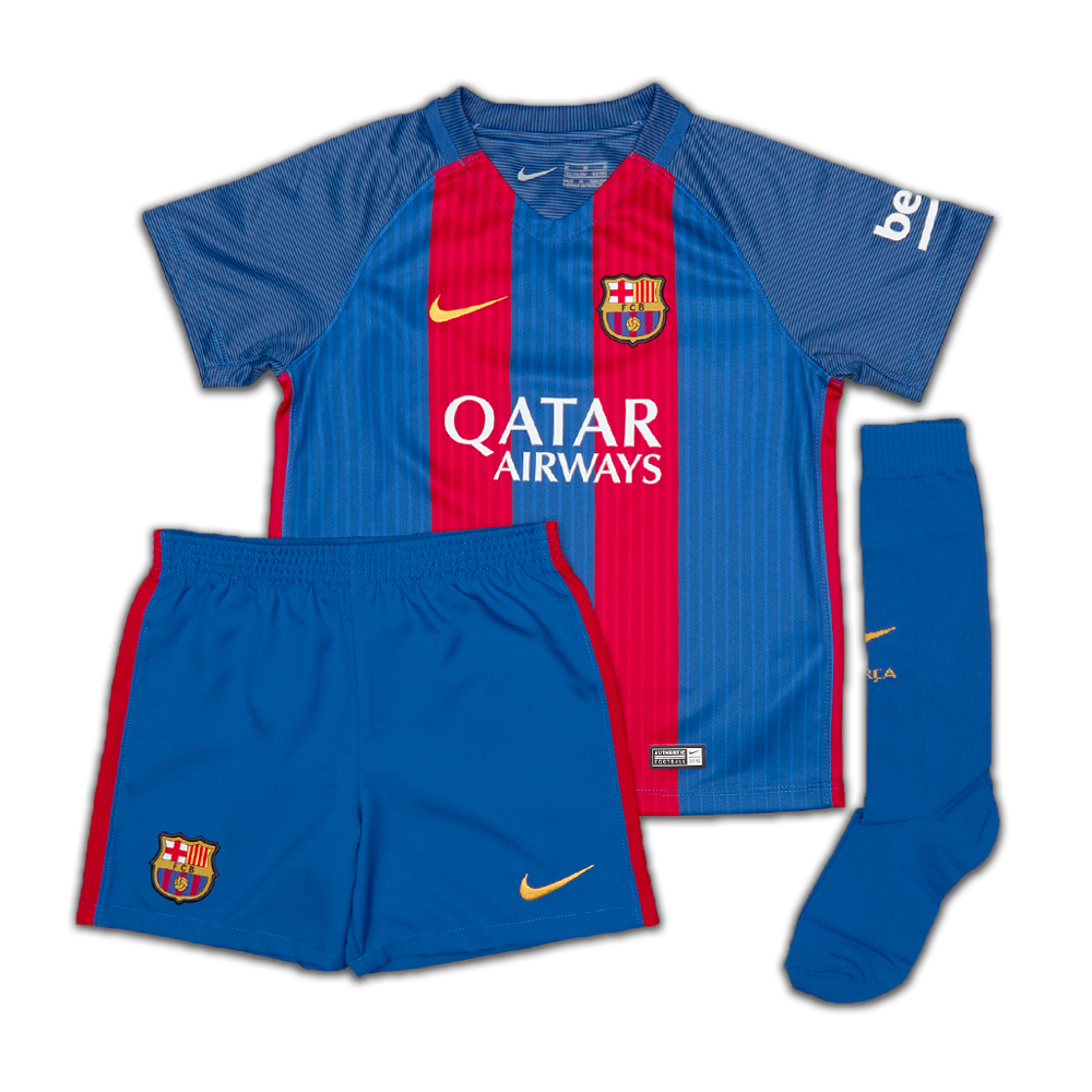 523214b02eb1 Barcelona 2016-2017 Home Mini Kit (with sponsor)  776733-415 ...