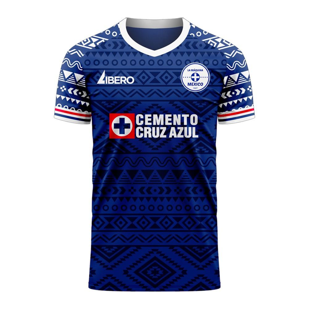 Cruz Azul 2020-2021 Home Concept Football Kit (Libero)