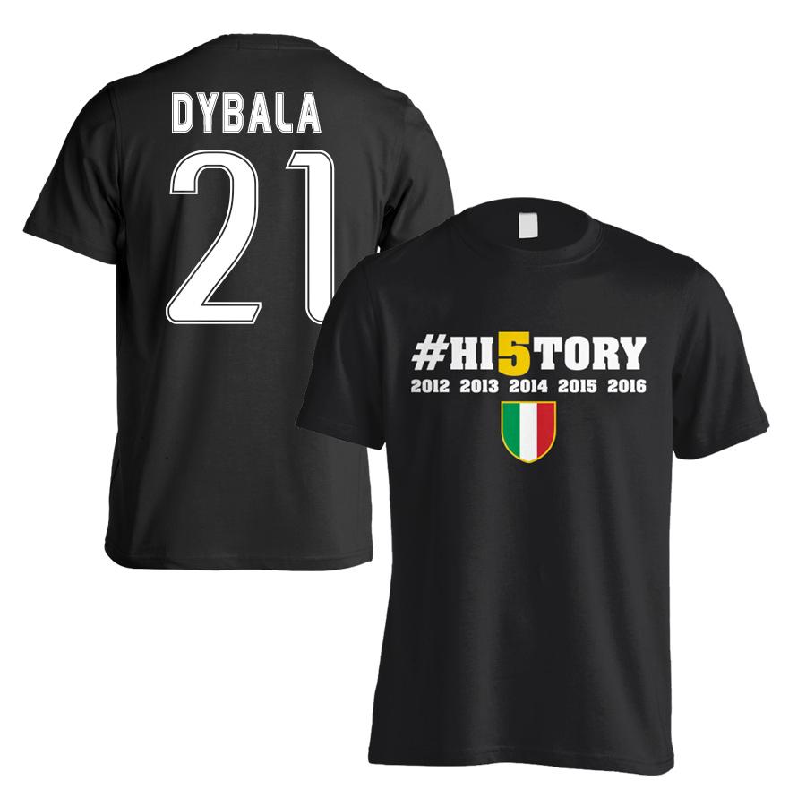 detailed look 4b5cd ca91f Juventus History Winners T-Shirt (Dybala 21) Black - Kids
