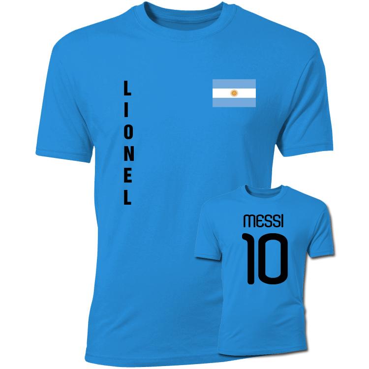 cd3382749 Lionel Messi Argentina Flag T-Shirt (Blue) [TSHIRTSKYKIDS;TSHIRTSKY] -  $17.77 Teamzo.com