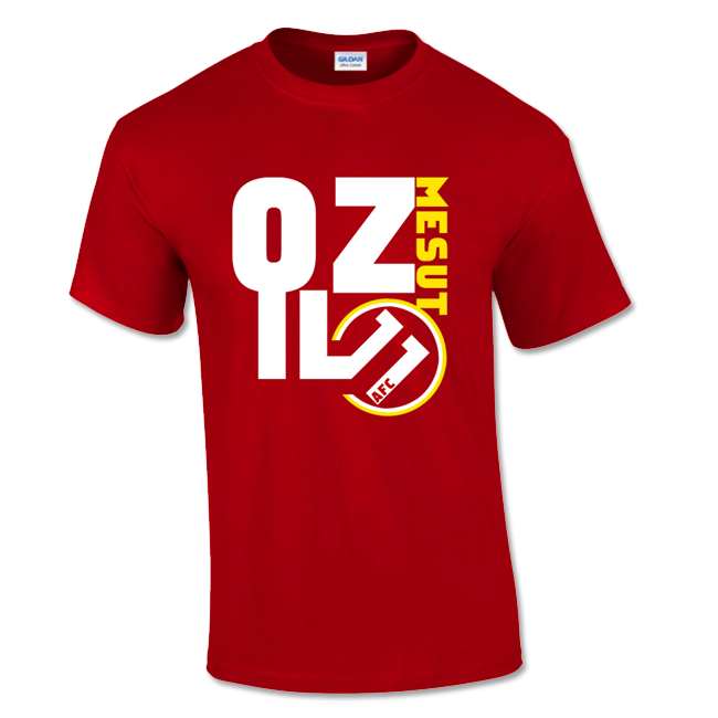 Mesut ozil arsenal front t shirt red tshirtredkids for Arsenal t shirts sale