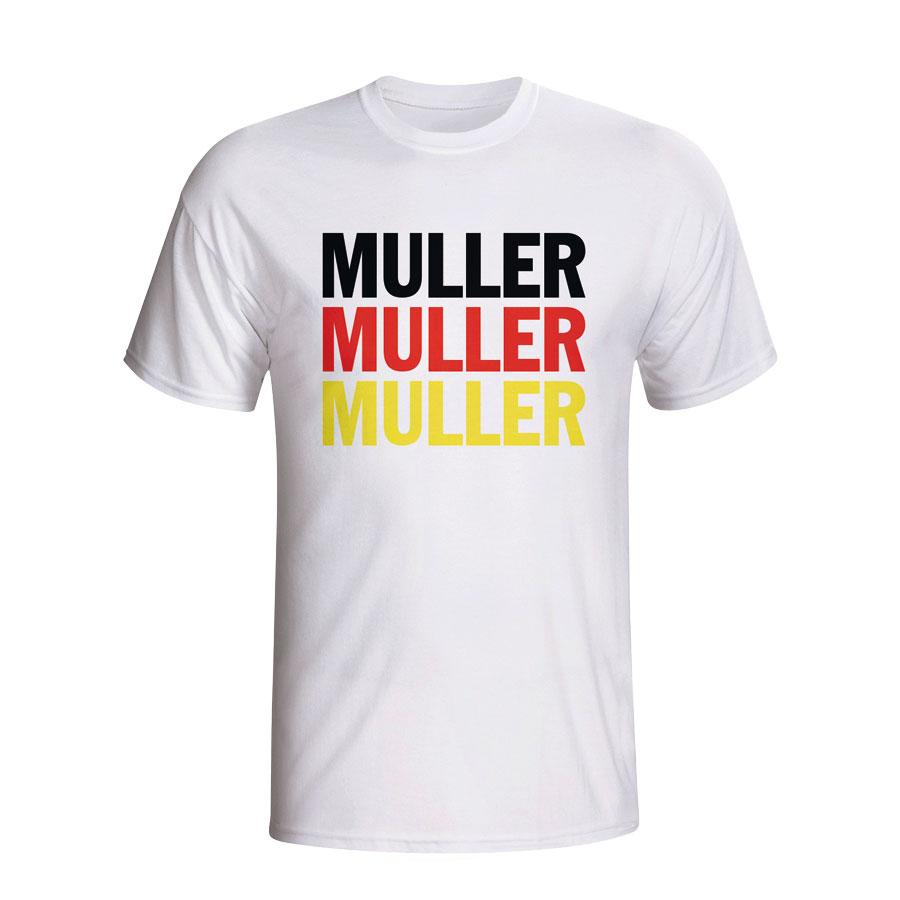 pretty nice 407b8 2326b Thomas Muller Germany Player Flag T-shirt (white) - Kids