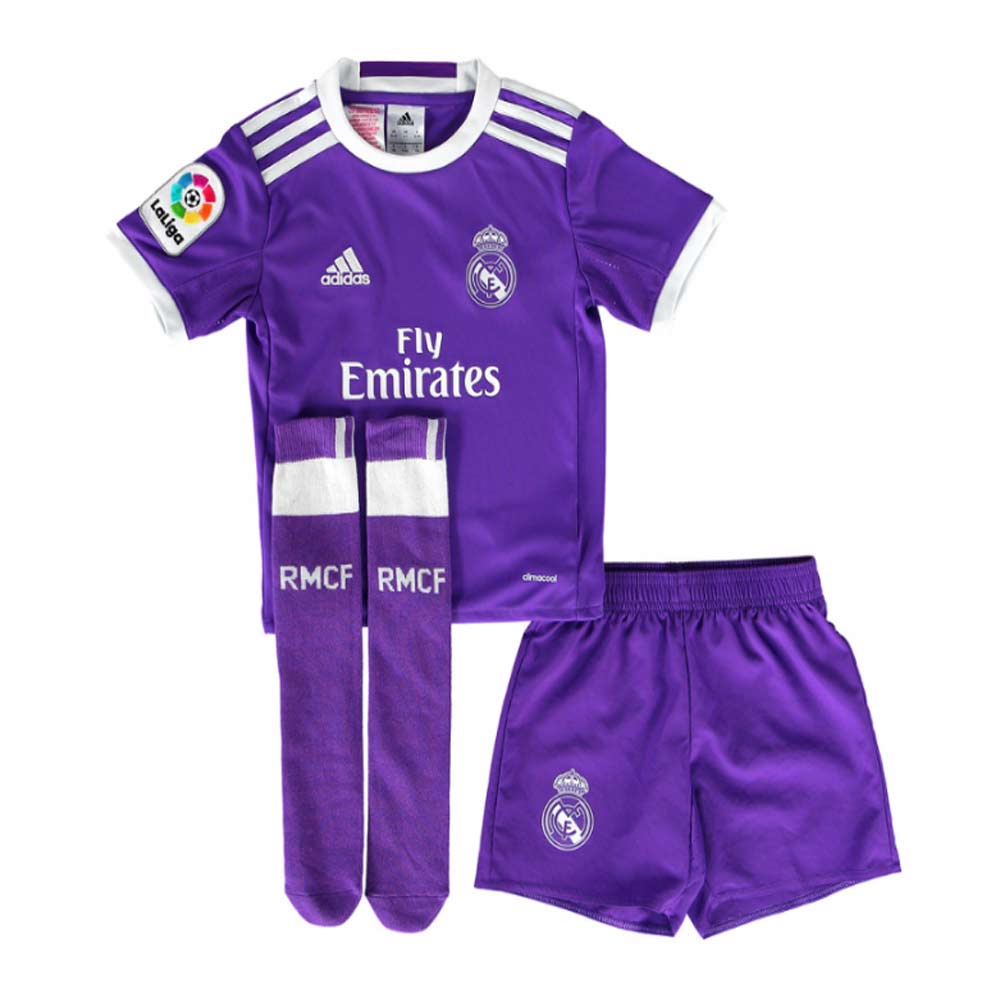 finest selection a488d ad065 Real Madrid 2016-2017 Away SMU Mini Kit