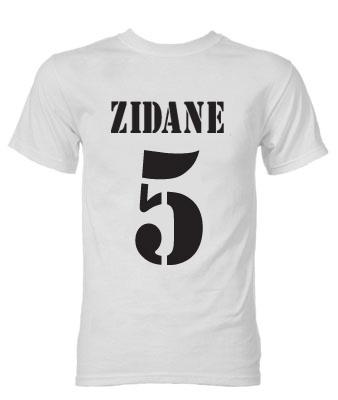 49369fdba Zinedine Zidane Real Madrid Galactico T-Shirt (White ...