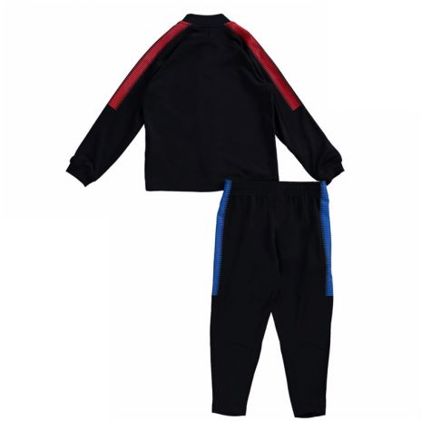Barcelona 2017-2018 Little Boys Tracksuit (Black) - Kids