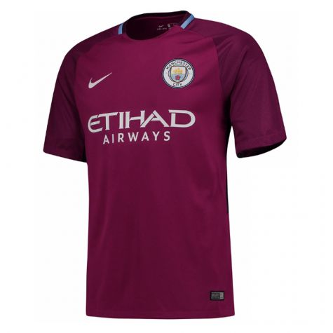 Man City 2017-2018 Away Shirt (Kids)