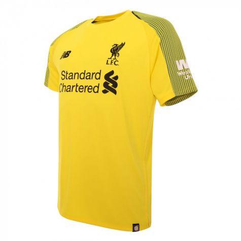 ccfbb6db9c8 ... Liverpool 2018-2019 Home Short Sleeve Goalkeeper Shirt (Kids)