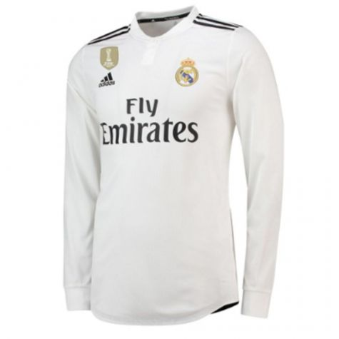 huge discount 46f1f 6db25 Real Madrid 2018-2019 Authentic Home Long Sleeve Shirt