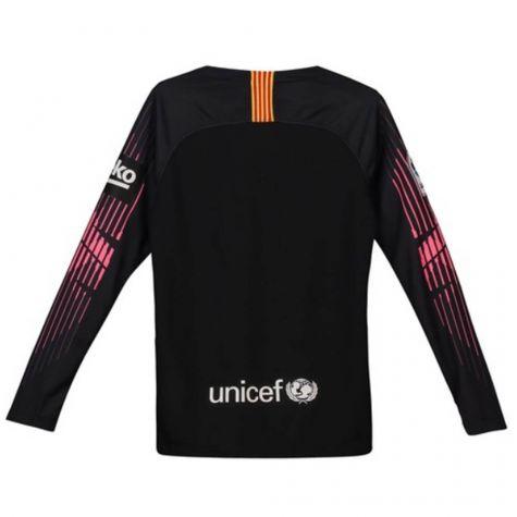 half off 0c7f7 5756b Barcelona 2018-2019 Goalkeeper Shirt (Black) - Kids