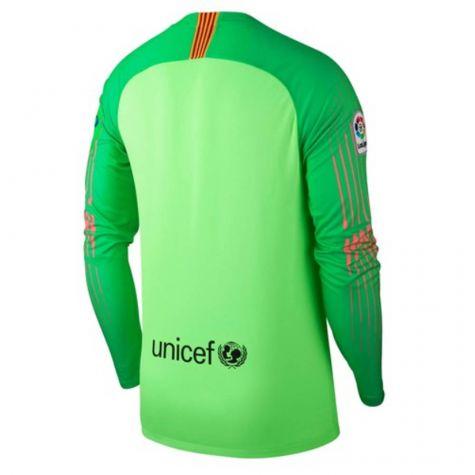 new arrival 56c25 93f80 Barcelona 2018-2019 Goalkeeper Shirt (Green) - Kids