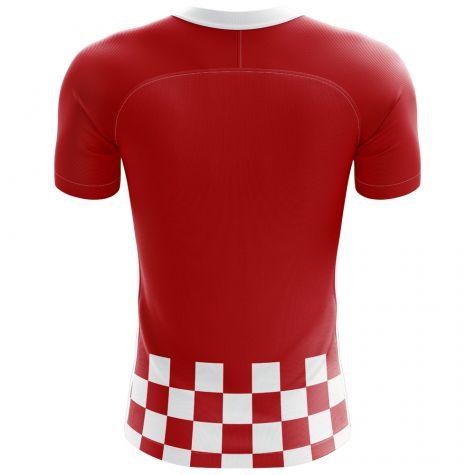 47380d9be ... 2018-2019 Croatia Flag Concept Football Shirt (Rakitic 7)