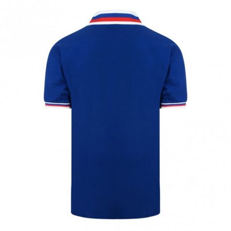 Score Draw Rangers 1981 Scottish Cup Final Retro Football Shirt