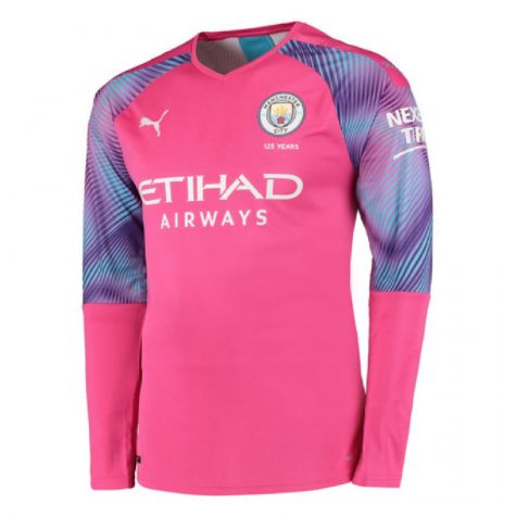 hot sale online 5b0d9 f1fe4 2019-2020 Manchester City Puma Away LS Goalkeeper Shirt (Pink) (EDERSON M  31)