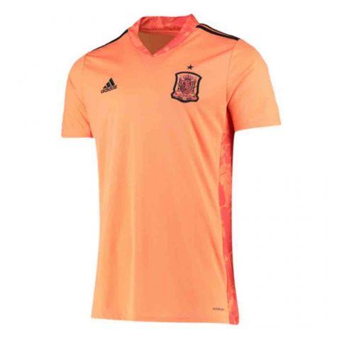 2020-2021 Spain Home Adidas Goalkeeper Shirt (Orange) (Your Name ...