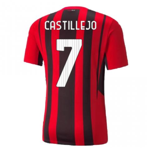 2021-2022 AC Milan Home Shirt (Kids) (CASTILLEJO 7)