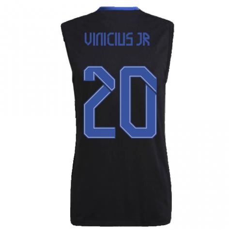Real Madrid 2021-2022 Sleeveless Jersey (Black) (VINICIUS JR 20)