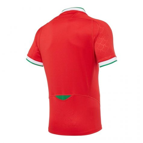 2020-2021 Wales Home Poly Replica Rugby Shirt