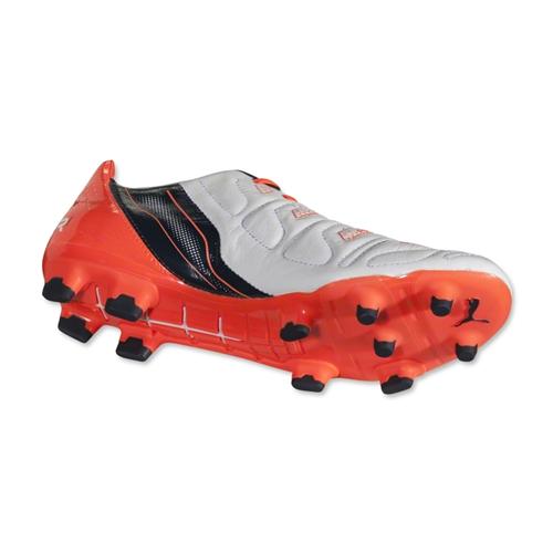 04de5968dc8e Puma Evopower 1.2 Mixed SG Football Boots (White-Orange)  10321008  -   105.38 Teamzo.com