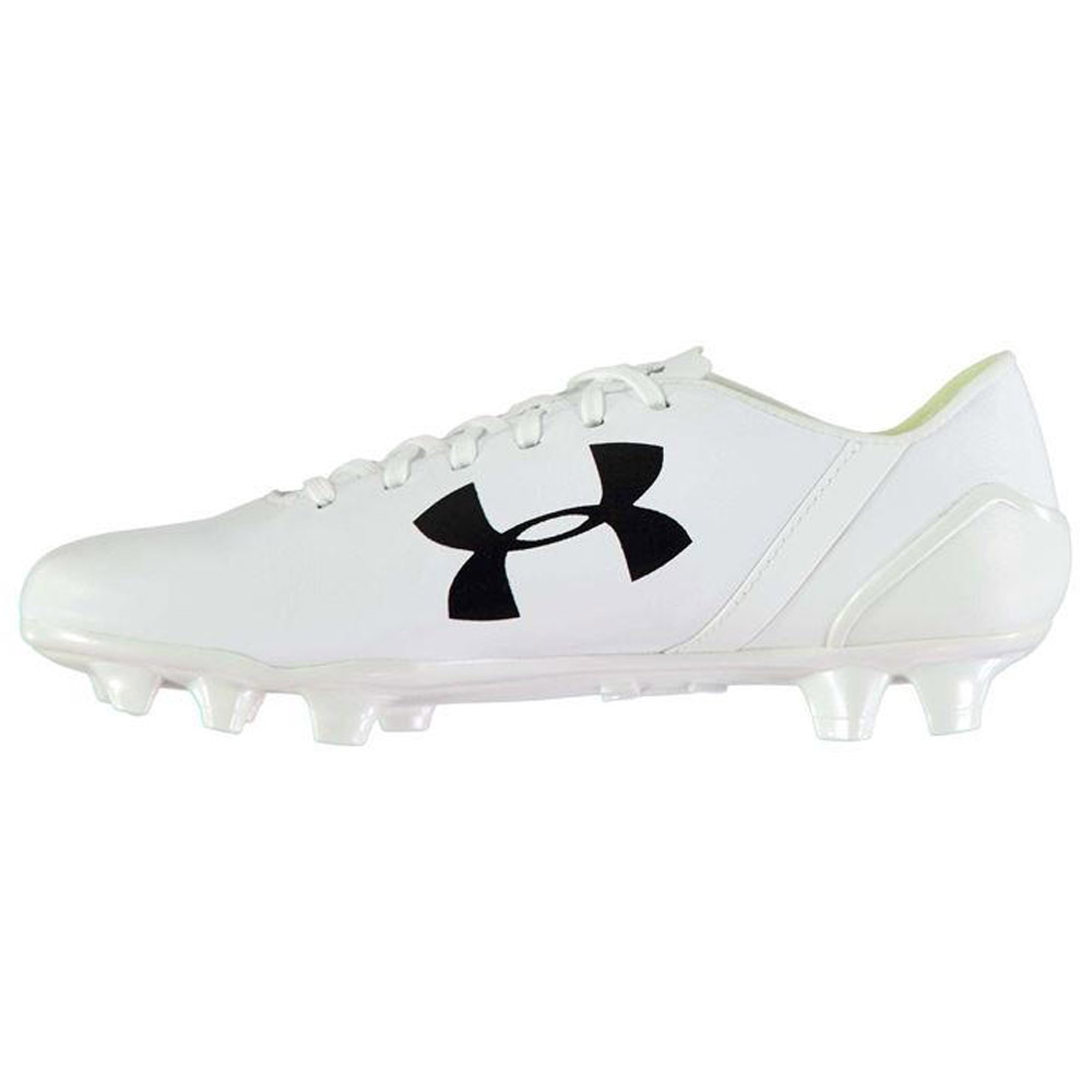 93f3c1fe3 Under Armour SpeedForm Leather FG Football Boots Mens (White) -  167.59  Teamzo.com